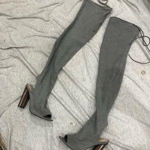 Public desire knee high cotton boots